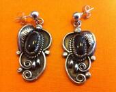 Onyx Native American Earrings
