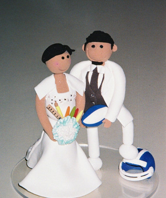 rugby wedding cake toppers custom wedding cake topper school by 19468