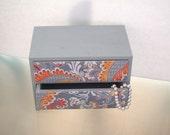 Jewelry Box - Grey Paisley