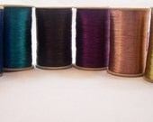Shiny Metallic Thread for Jewelry making,Needlework, Crochet and Embroidery