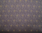 Silver Grey Silky Brocade with Golden Flowers Fabric for Home Decor,Fancy Costumes, Purses- 1 yard
