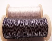 Pair of Shiny Metallic Thread Black Silver/ White Silver for Jewelry making,Needlework, Crochet and Embroidery