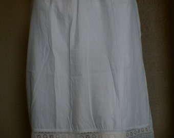 50's Light Blue Cotton Half Slip  Size Extra Small/Small