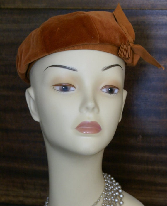 Vintage Classy Copper Beret by Betmar