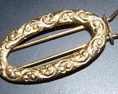 Vintage Victorian Style Goldtone Hair Clip / Barette