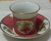 Vintage 1985 AVON / European Tradition Cup and Saucer Collection  /  France /  Circa 1750