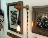steampunk antique style wooden spigot light