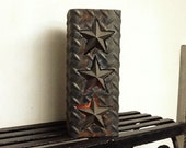 Americana Metal Candle Holder...