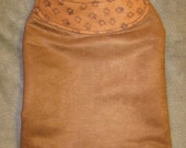 Brown Suede Paws Dog Coat  - Small