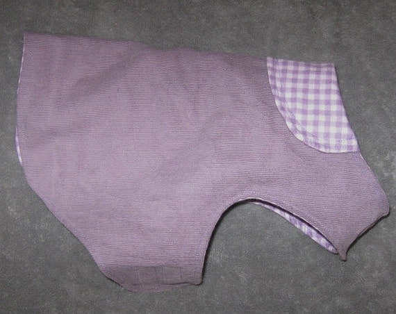 Purple Corduroy Dog Coat  - Small