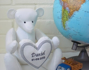 Personalised Keepsake Cotton Teddy Bear