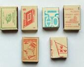 Vintage European Matchboxes Set of 5