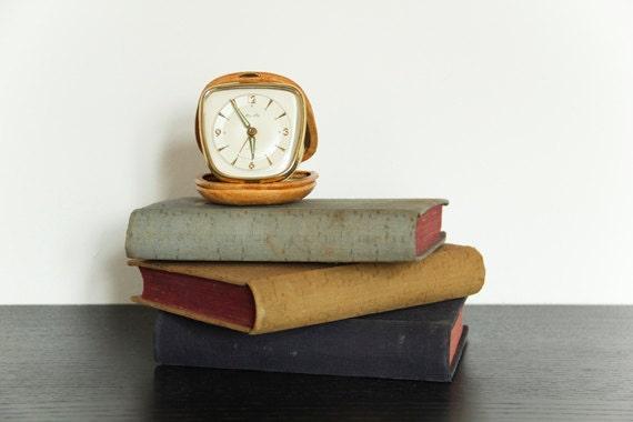 Vintage Travel Clock 1960s Mauthe Germany