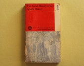 """Book cover designed by Paul Rand. """"The Social History of Art 1"""" by Arnold Hauser"""