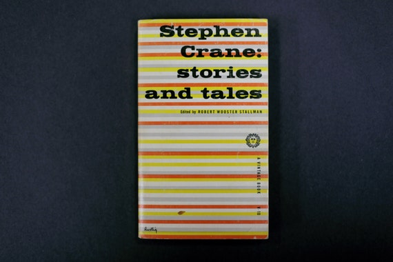 Stephen Crane: stories and tales. Cover designed by Alvin Lustig.