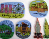 New York Magnets-Set of 6 Handmade Upcycled foam magnets