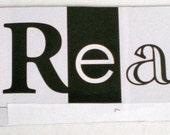 DREAM Magnet- 1 handmade black and white glossy rectangular magnet
