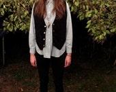 Vintage Black Suede Vest