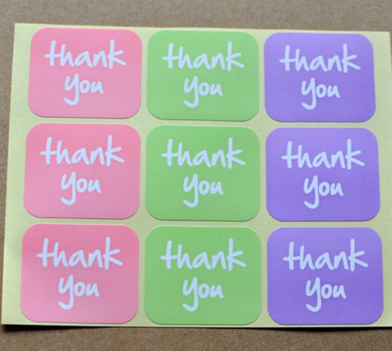 105 THANK YOU STICKERS