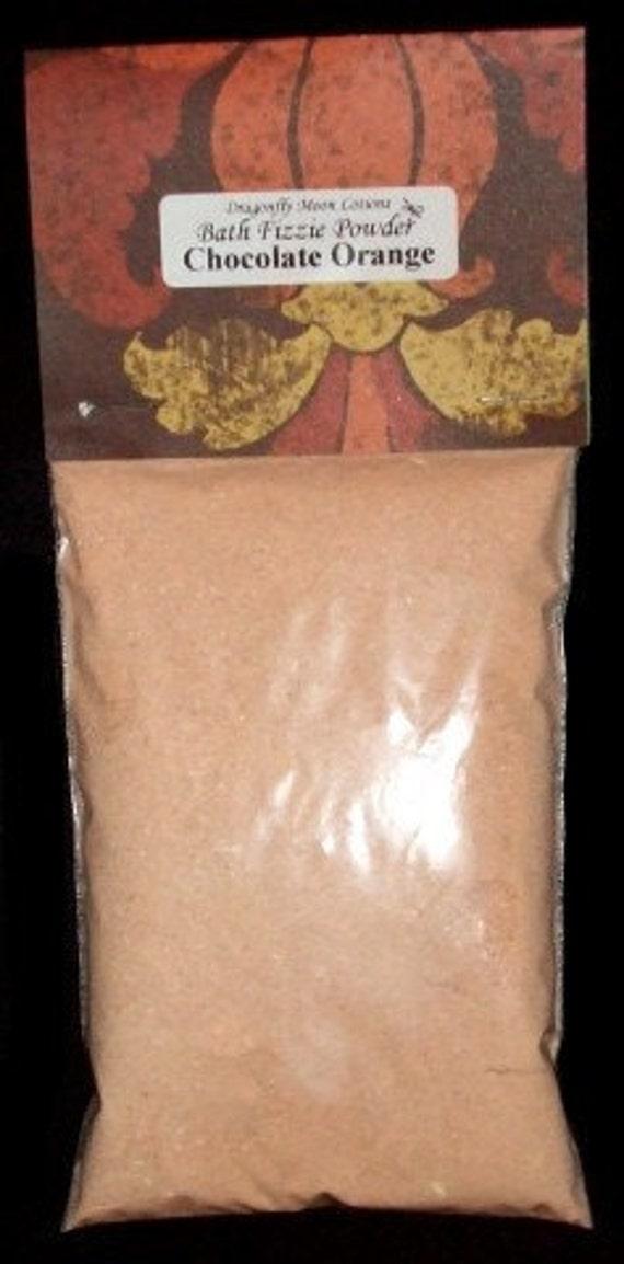 Sale Save 50% - CHOCOLATE ORANGE Bath Fizzie Powder 6oz Bath Bomb Powder