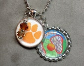 Lacrosse Charm Necklace with Name