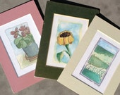 Small Watercolor Prints- set of 3