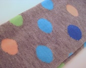 Heather Grey with Polka Dots Baby/Toddler Leggings (Royal Blue, Aqua, Peach, Lime Green)