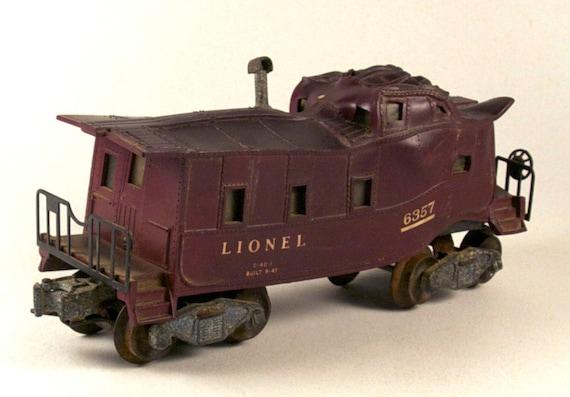 Vintage LIONEL CABOOSE 6357, train disaster, Casey Jones, long strange trip