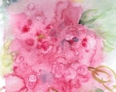 CIJ Azaleas Watercolors Art Original Pink Gift