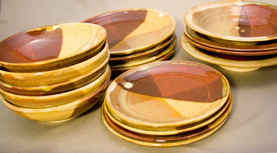 17 Piece Dish Set - Hand Thrown on the Pottery Wheel