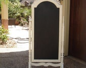 French Country Large Carved Wood Cheval Chalkboard Wedding Decor
