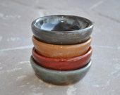 Dipping/Condiment Stoneware Bowls, Set of 4