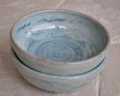 Soup, Salad or Cereal Bowls in Foggy Blue Gray, Set of 2