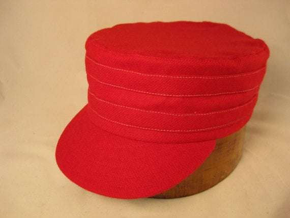 Box cap, soft wool flannel with supple leather sweatband, size Large adjustable, other sizes available.