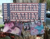 MilitaryFamily Photo Plaque..Army..Navy..Marines..Air Force..Military Photo Holder...Special Orders Welcome