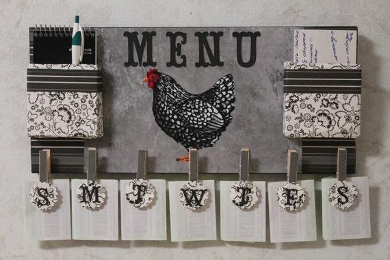 NEW..Chicken Menu Board..Chicken Menu Organizer..Rooster/Chicken collector.