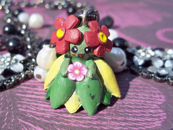 Lovely Bellossom Pokemon Necklace