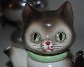 RESERVED for Colortheorievintage Vintage Cat Teapot