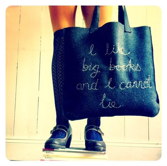 I like big books & I cannot lie... book bag tote. LAST ONE.