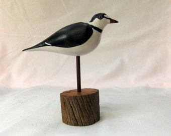 Ringed Polver Shore Bird Carving