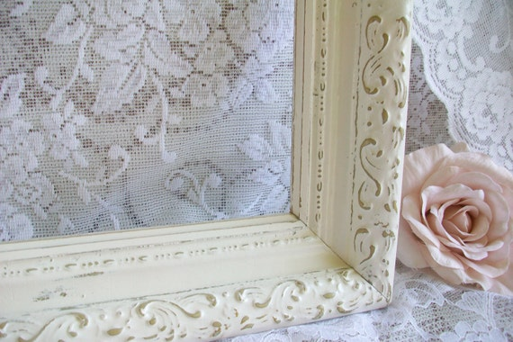 Large Vintage Frame, Shabby Chic, French Country, Wedding Decor, Photo Prop, Ornate Picture Frame