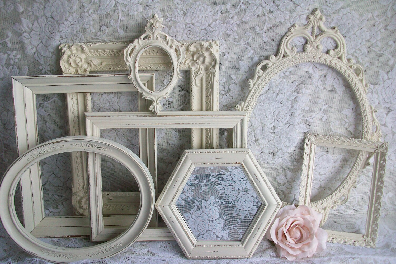 Shabby Chic Frames White Frames Picture Frame Setdistressed
