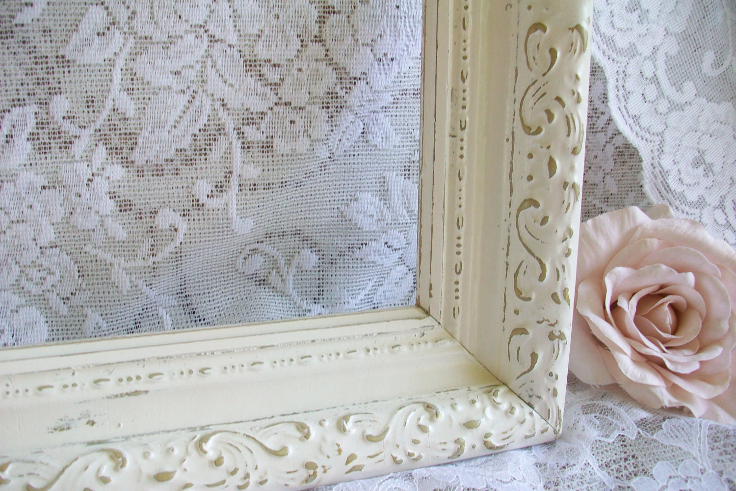 Large Vintage Frame Shabby Chic French Country Wedding