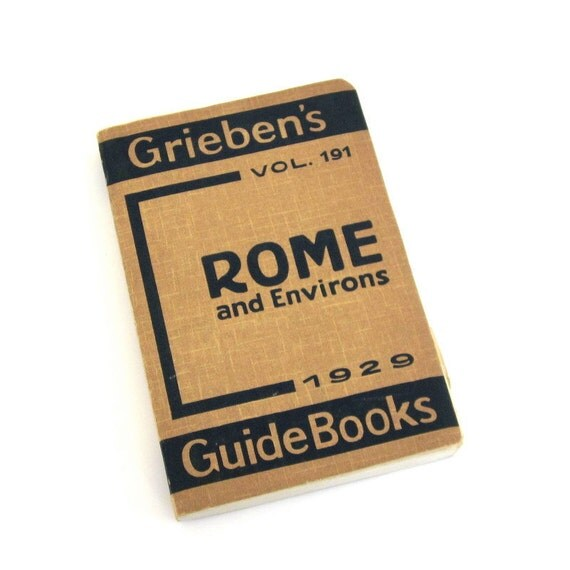 Vintage Pocket Guidebook to Rome, 1929, in English with Maps