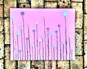 ROSEBUDS - original fine art acrylic abstract flower painting, impasto