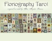 Floriography Tarot Deck (pre-order)- vintage floral themed tarot deck 78 cards, original design based on the Rider Waite Standard Tarot Deck
