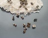 100 pcs Antique Bronze Brass General butterfly Earplug Earring backs Stoppers g40920