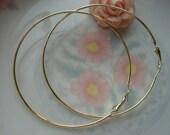 10 pcs 78x1.5mm Huge Antique Gold Vintage Large buckle Ear Rings Hooks Loops Earwires Earrings Wire Findings g51371