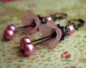 Reserved-- Vintage Earrings inspired shabby chic Victorian