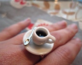 Coffee Cup Ring Kawaii Kitsch a wake up for the fingers